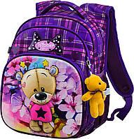 Рюкзак шкільний для дівчаток 1,2 клас Мишко Ранець портфель ортопедичний для школи Winner One R3-223