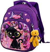 Шкільний ортопедичний рюкзак для дівчаток 1 клас Ранець портфель для школи Мишко Winner 1704