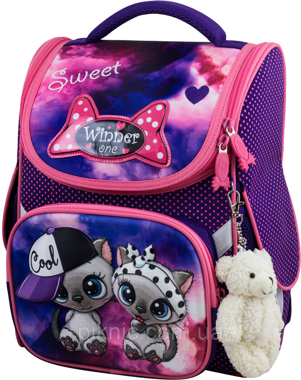 Шкільний ранець для дівчаток Winner One 2039 Рюкзак портфель ортопедичний