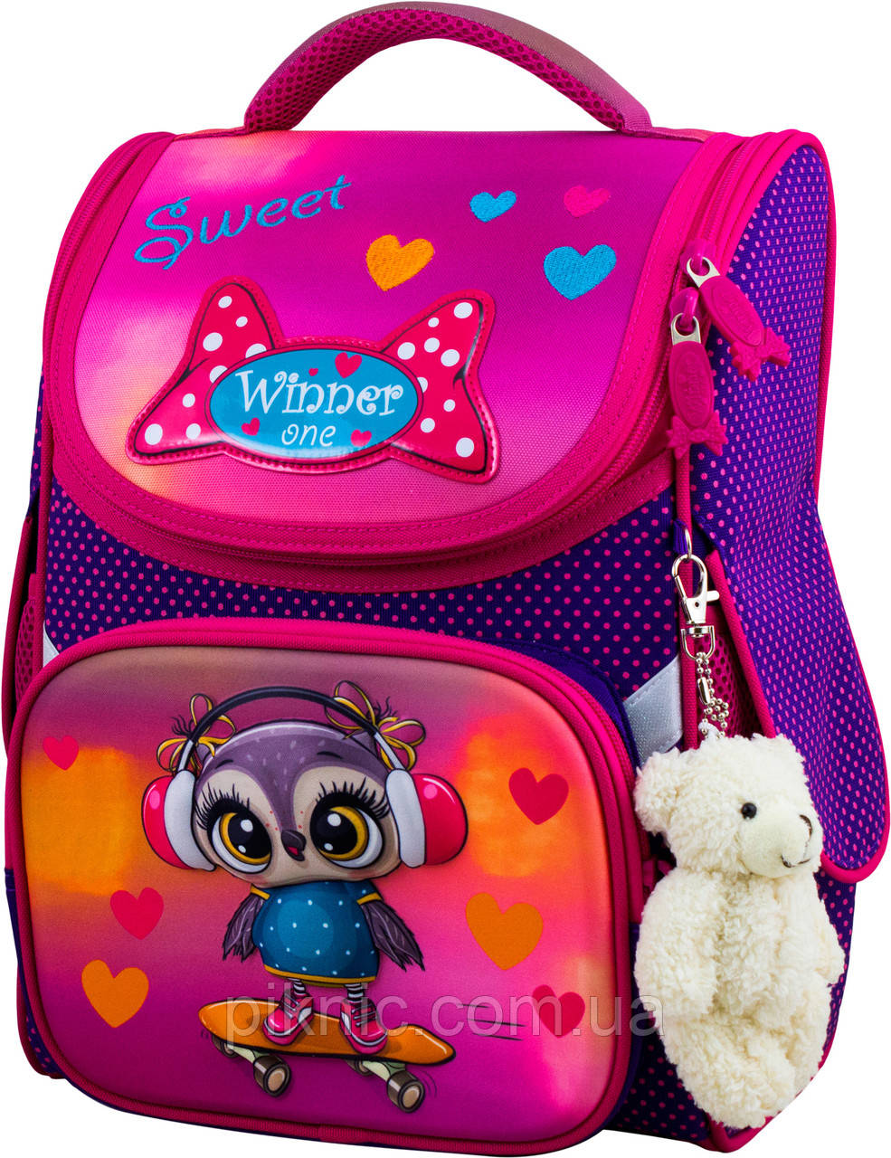 Шкільний ранець для дівчаток Winner One 2053 Рюкзак портфель ортопедичний