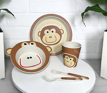 Бамбукова посуд для хлопчика Con Brio 5пр