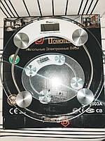 Напольные весы круглые стеклянные Domotec 2003a до 180 кг