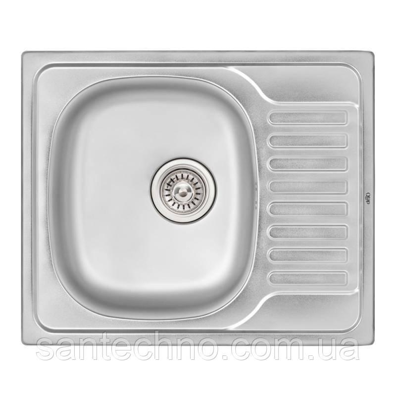 Кухонна мийка Qtap 5848 Satin 0,8 мм (QT5848SAT08)