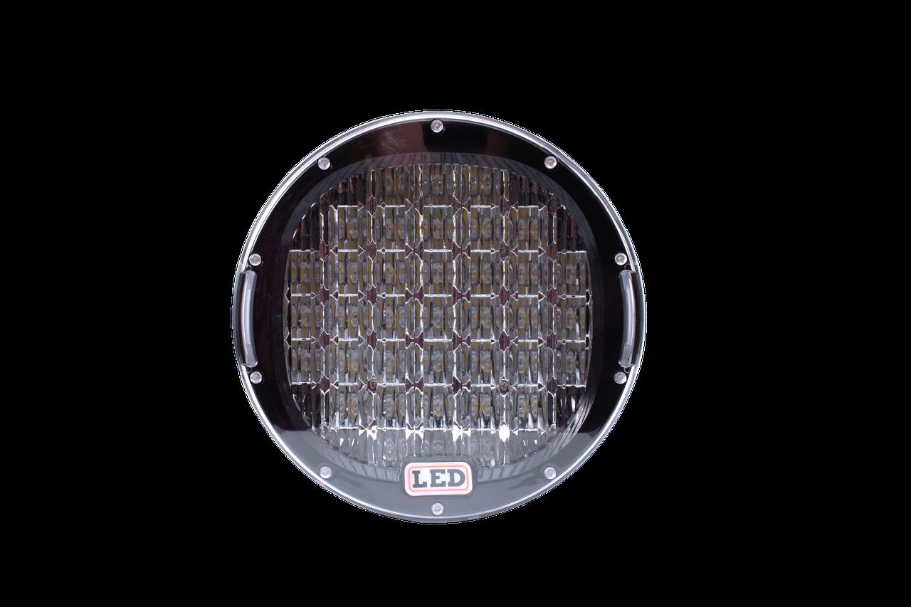 Фара LED кругла 185W (37 діодів) 222 222 мм х мм х 72 мм