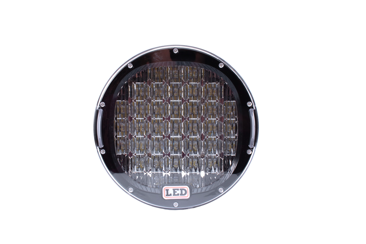 Фара LED круглая 185W (37 диодов) 222 мм х 222 мм х 72 мм