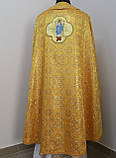 Священичі ризи з вишитою іконою, жовтий, фото 2