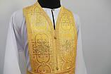 Священичі ризи з вишитою іконою, жовтий, фото 5
