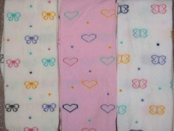 Колготки для девочки бантик, сердечко, бабочка