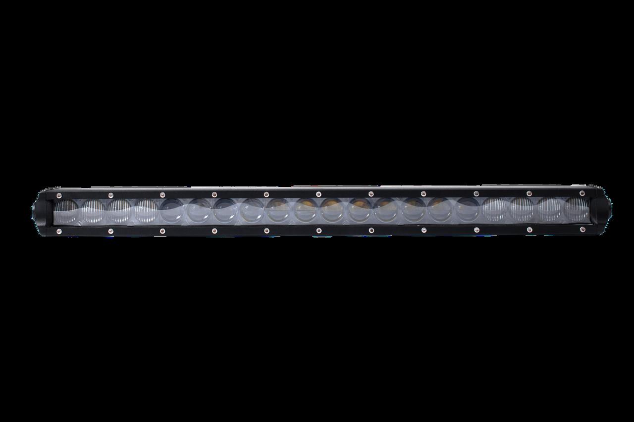 Фара LED BAR прямоугольная 100W, 20 ламп, смеш. луч 10/30V 6000K (540мм х 80мм х 45мм)