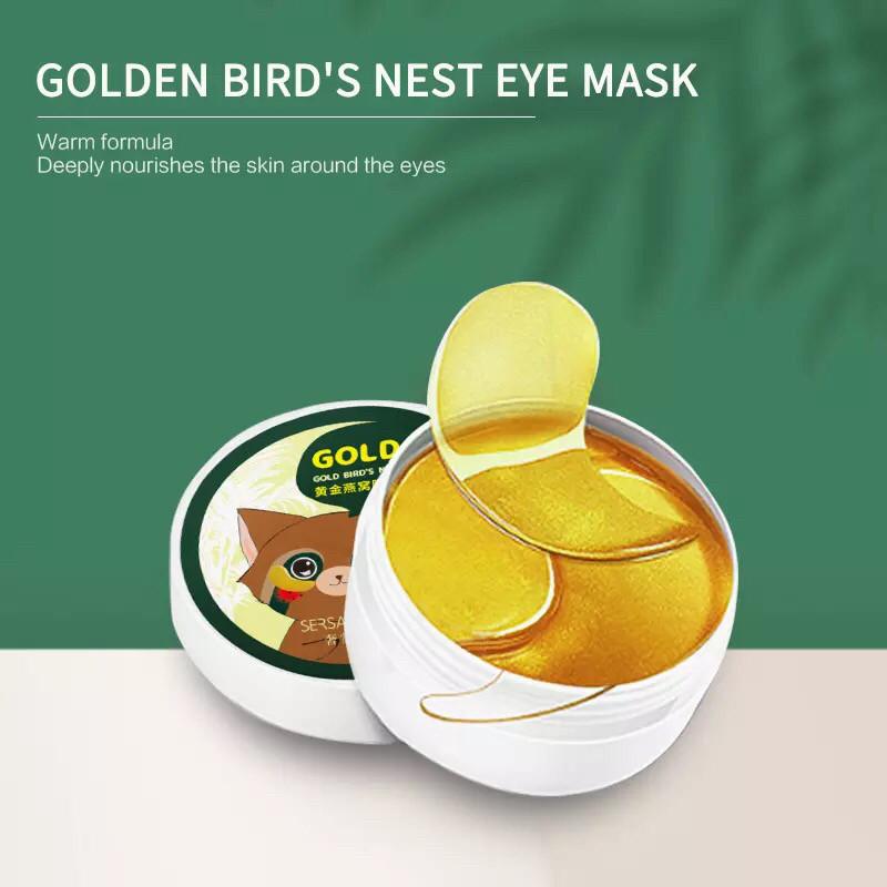 Гидрогелевые патчи для глаз Hydro-gel Eye Patch, злотые