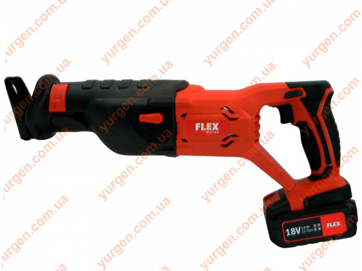 Пила сабельная аккумуляторная FLEX RS29 18,0/5,0 SET