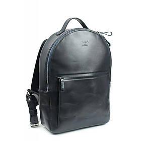 Кожаный рюкзак Groove L синий
