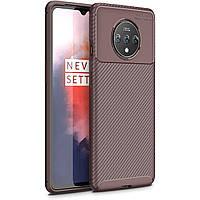 Чехол Carbon Case для OnePlus 7T Brown
