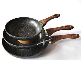 Набор сковородок A-Plus 3014 (20cм,24см,28 см)