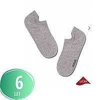 Мужские носки ультра короткие хлопковые последники невидимки с резинкой ACTIVE DIWARI набор 6 пар 17С-144СП