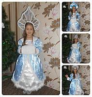 Шикарный костюм снегурочки в голубом. Костюм снегурочка прокат Киев
