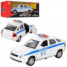 Машина АвтоСвіт, метал, інер-я, поліція 13 см,відкривши.двері, в кор-ке,18,5-8-8.0 см