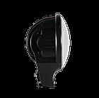 Фара LED круглая 60W 6000К (4 диода х 15W) + Х-DRL(chip CREE)(19.4 см х 12.1 х 15 см)(ближний + супер дальний), фото 2