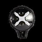 Фара LED круглая 60W 6000К (4 диода х 15W) + Х-DRL(chip CREE)(19.4 см х 12.1 х 15 см)(ближний + супер дальний), фото 3