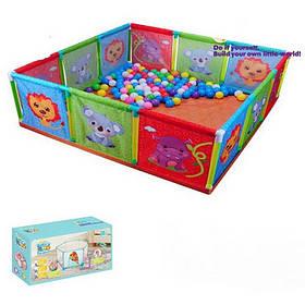 Манеж детский 118*40*118 см.,животные в коробке