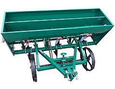 Сеялка зерновая для мотоблока, мототрактора 6 рядная с бункером для удобрений