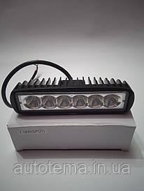 Автомобільна світлодіодна LED фара 18 вт. 16см 4.5 см Лідер дальнє світло