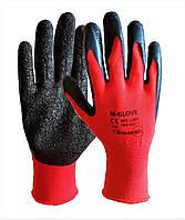 Перчатки рабочие стрейчевые вспененный латекс Польша M-Glove