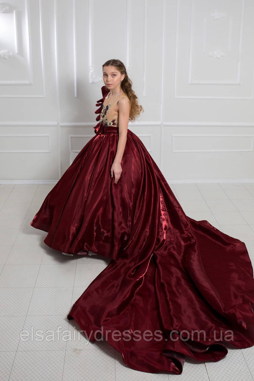 Дитяча сукня 👑 CINREDELLA ELIT👑 - дитяче плаття зі шлейфом