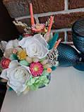 Букет из сухоцветов, стабилизированных цветов., фото 5