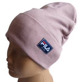 Молодежная весенняя хлопковая шапка Fero Fila, пудра