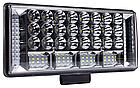 Фара LED прямоугольная 204W 6000K (68 диодов) (22.5см х 10.5см х 3см) (ближний + дальний) ОБЛЕГЧЕННЫЙ КОРПУС!, фото 3