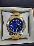 Мужские часы реплика Rolex Oyster Perpetual Ролекс ( Gold/Blue), фото 4