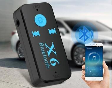 Бездротовий адаптер Bluetooth приймач аудіо ресивер BT-X6 TF card