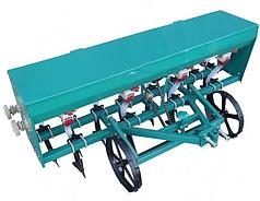 Сеялка зерновая для мотоблока, мототрактора 8 рядная с бункером для удобрений