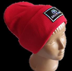Молодежная весенняя хлопковая шапка Fero Balenciaga, красная