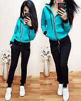 Женский спортивный костюм на змейке, размер M (44) в наличии 1 шт цвет бирюза Супер цена!