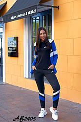 Спортивный женский костюм тройка:кофта+футболка+штаны Размеры;48.50.52.54.56