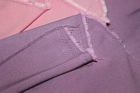 Тканина бенгалін, сильний стрейч! Джинсове плетіння нитки. колір бузковий, фото 1