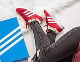 Женские красные кроссовки Adidas Gazelle, женские кроссовки адидас газель (Реплика ААА), фото 7