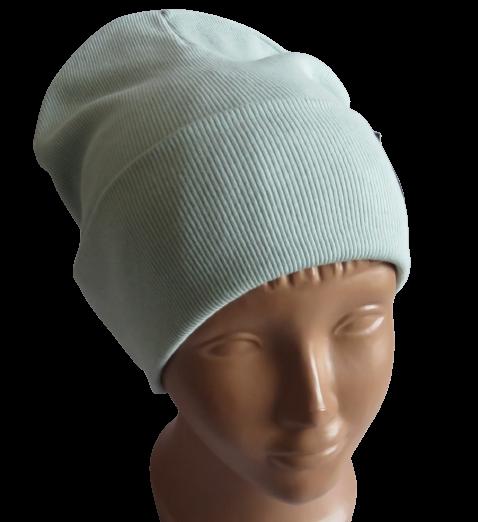 Молодіжна весняна бавовняна однотонна шапка Fero, м'ята