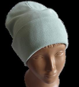 Молодежная весенняя хлопковая однотонная шапка Fero, мята