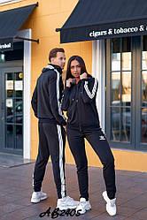 Женский спортивный костюм кофта на молнии+штаны двунить