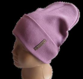 Молодежная весенняя хлопковая однотонная шапка Fero, розовая