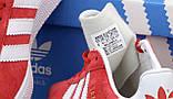 Чоловічі червоні кросівки Adidas Gazelle, чоловічі кросівки адідас газель (Репліка ААА), фото 6