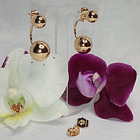 Серьги-гвоздики Матрешки позолота Xuping