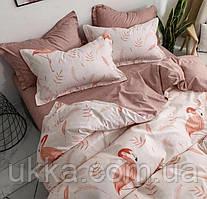 Полуторное постельное бязь 100% хлопок Фламинго персик