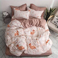 Евро постельное бязь 100% хлопок Фламинго персик