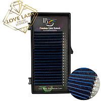 Ресницы I-Beauty (Two-tone) Ombre Синие Микс (8-13) (0.07, 0.10) (Изгиб СС)