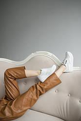 Женские кроссовки кожаные весна/осень белые Lions R16 Emirro White Leather