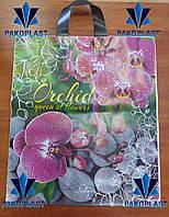 """Пакеты полиэтиленовые """"петля"""" 40х43 Орхидеи (50 шт)"""